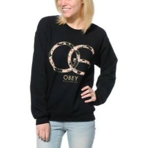 OBEY OG floral crew neck sweater